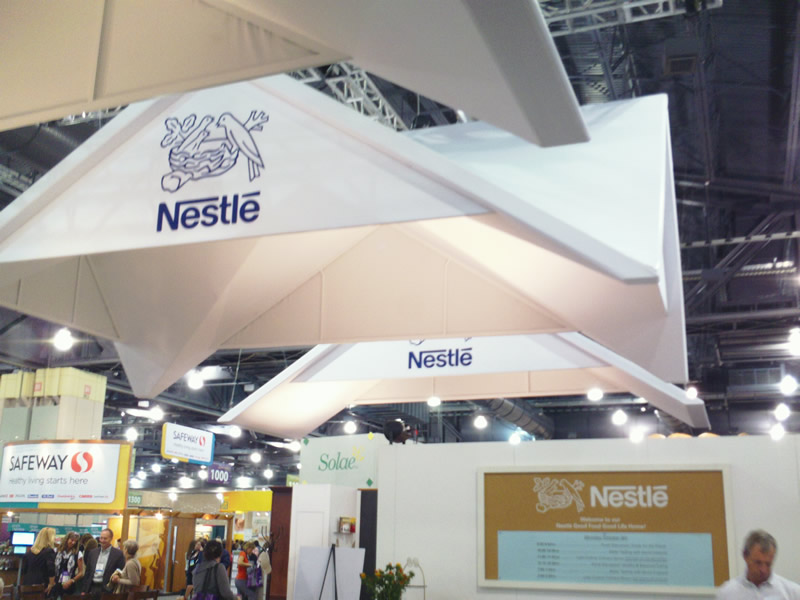 Nestle Exhibition Booth : Food company booths at annual meeting expo eat drink
